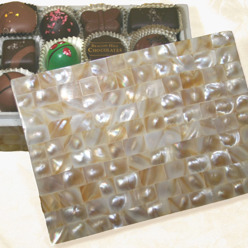A Hand Crafted Mother of Pearl Box 1