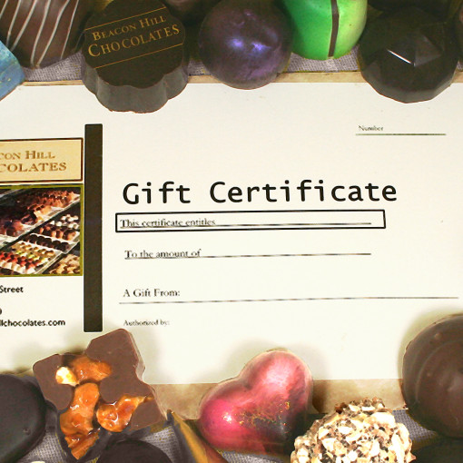 Beacon Hill Chocolates Gift Certificate 1