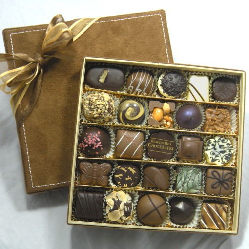 25 Piece Assortment Suede Gift Box 1